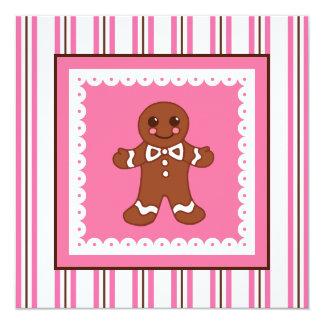 Christmas Gingerbread Invitation