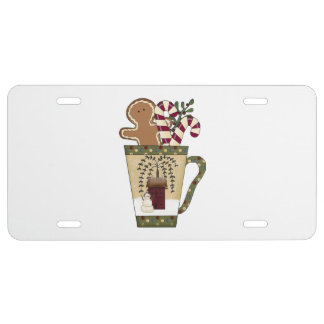 Christmas Gingerbread License Plate