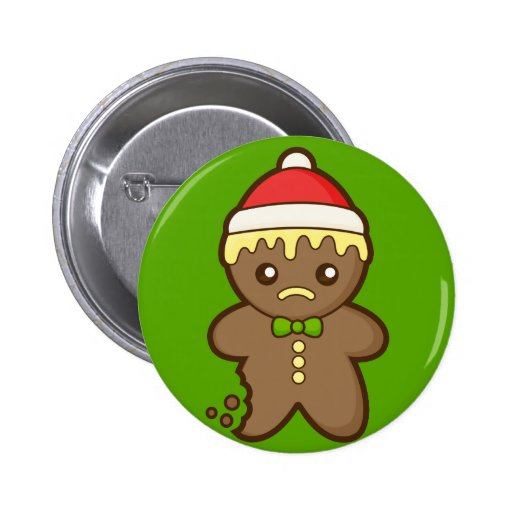 Christmas Gingerbread Man 2 Inch Round Button