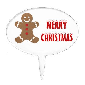 Christmas Gingerbread Man Cake Topper