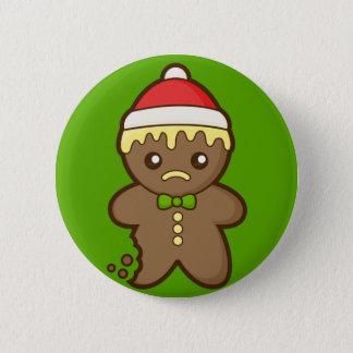 Christmas Gingerbread Man Pinback Button