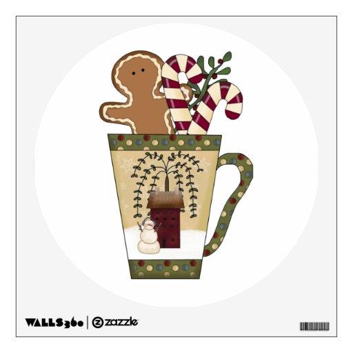 Christmas Gingerbread Man Wall Sticker