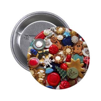 Christmas Gingerbread Men Buttons