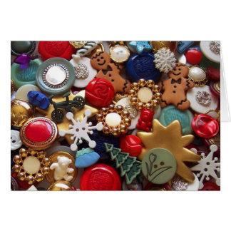 Christmas Gingerbread Men Buttons Card
