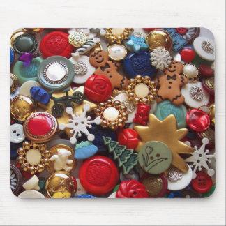 Christmas Gingerbread Men Buttons Mousepads
