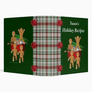 Christmas Gingerbread Men Holiday Recipe Binder