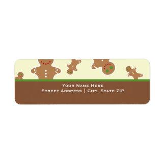 Christmas Gingerbread Men Labels