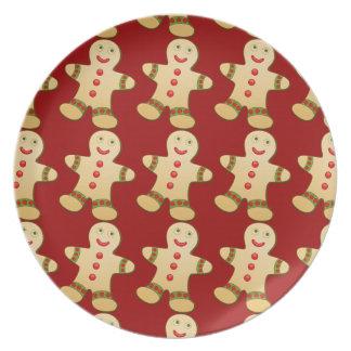 Christmas Gingerbread Men Plate