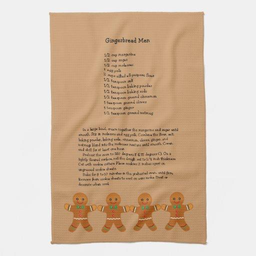 Christmas Gingerbread Men Recipe Towels