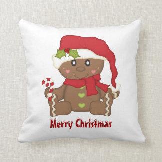 Christmas Gingerbread Throw Pillow