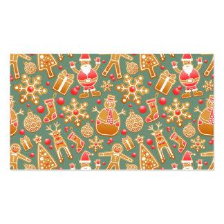 christmas gingerbread santa business card