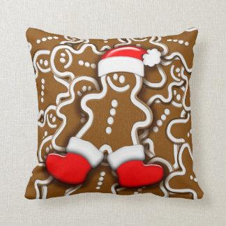 Christmas Gingerbread Santa Claus Pillows