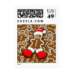 Christmas Gingerbread Santa Claus postage