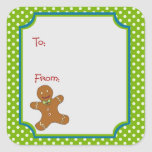 "Christmas Gingerbread Sticker Gift Tag<br><div class=""desc"">Christmas Gingerbread Sticker Gift Tag</div>"