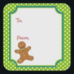 "Christmas Gingerbread Sticker Gift Tag<br><div class=""desc"">Christmas Gingerbread Sticker Gift Tag</div>"