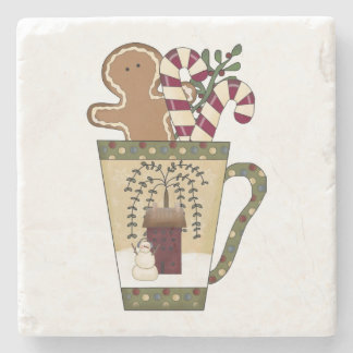 Christmas Gingerbread Stone Coaster