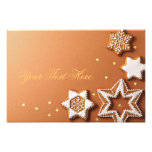 Christmas Gingerbreads With Golden Stars Art Photo