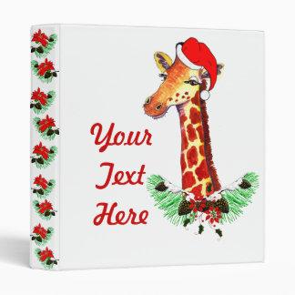 Christmas Giraffe Binder