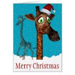 Christmas Giraffe Card