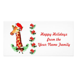 Christmas Giraffe Card