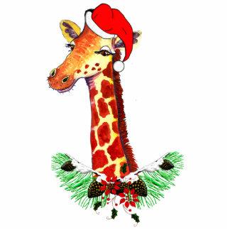 Christmas Giraffe Cutout