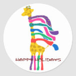 "Christmas Giraffe, Happy Holidays stickers<br><div class=""desc"">Christmas Giraffe,  Happy Holidays stickers</div>"