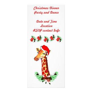 Christmas Giraffe Rack Card