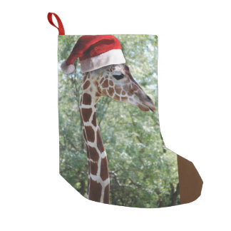 Christmas Giraffe Small Christmas Stocking