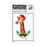 Christmas Giraffe Stamp