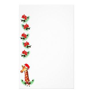 Christmas Giraffe Stationery Paper