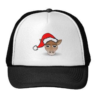 Christmas Giraffe Wearing Santa Hat