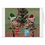 Christmas Giraffes Card