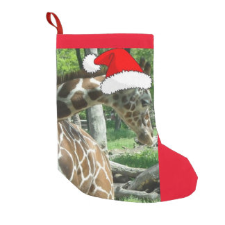 Christmas Giraffes Small Christmas Stocking