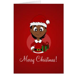 Christmas girl cartoon card