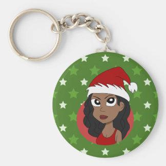 Christmas girl cartoon keychain