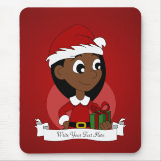 Christmas girl cartoon mouse pad