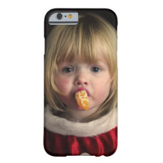Christmas girl - christmas child - cute girl barely there iPhone 6 case