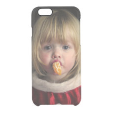 Christmas girl - christmas child - cute girl clear iPhone 6/6S case