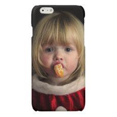 Christmas girl - christmas child - cute girl glossy iPhone 6 case