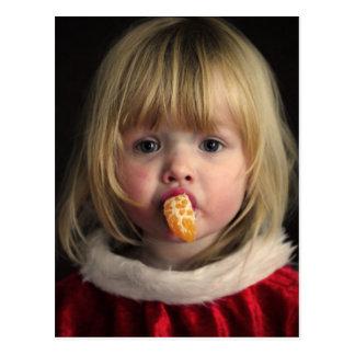 Christmas girl - christmas child - cute girl postcard