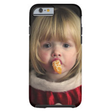 Christmas girl - christmas child - cute girl tough iPhone 6 case