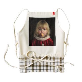 Christmas girl - christmas child - cute girl zazzle HEART apron