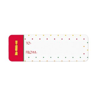 Christmas Girl dots Gift Tag Sticker Label label