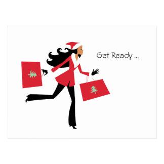 Christmas Girl Holiday Postcard - Personal or Biz