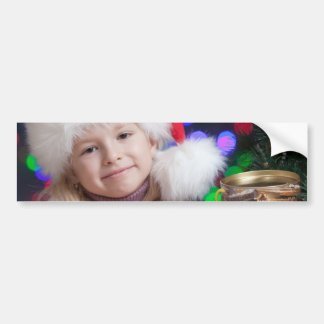 Christmas girl - little girl - christmas child bumper sticker