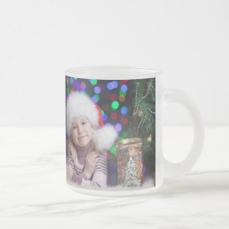 Christmas girl - little girl - christmas child frosted glass coffee mug