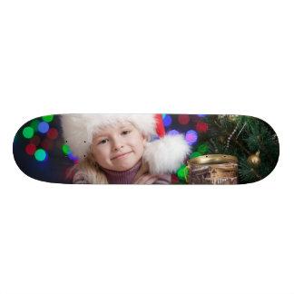 Christmas girl - little girl - christmas child skateboard deck