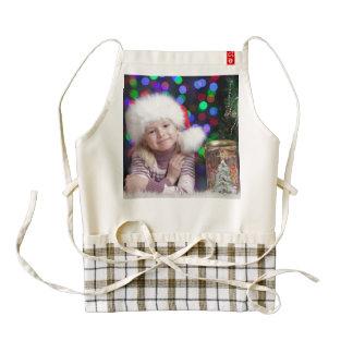 Christmas girl - little girl - christmas child zazzle HEART apron