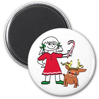 Christmas Girl magnet
