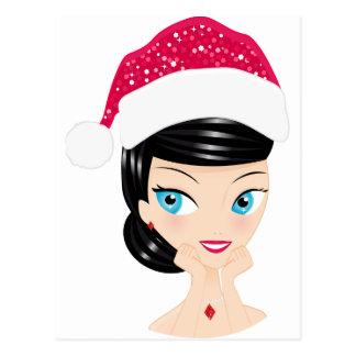 Christmas Girl Postcard